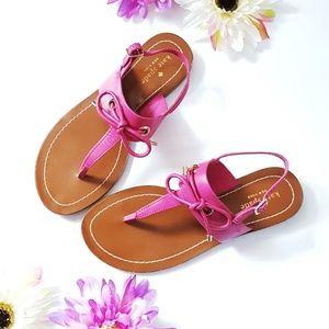 Kate Spade Hot Pink Leather Carolina Sandals